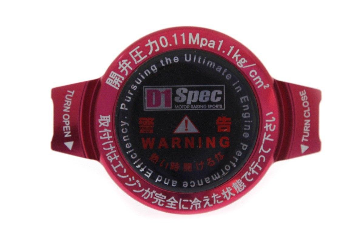 Korek wlewu chłodnicy D1Spec 28mm 1.1Bar Red - GRUBYGARAGE - Sklep Tuningowy